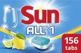 Sun All-in-1 Vaatwastabletten Citroen - 156 stuks - 6 x 26 tabletten - Hygienisch schoon