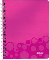 Leitz WOW Notitieboek - A5 - Gelijnd - Spiraalgebonden - PP kaft -Roze