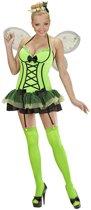 Vlinder Kostuum | Sexy Vlinder Groen Kostuum Vrouw | Large | Carnaval kostuum | Verkleedkleding
