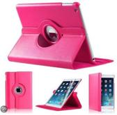 iPad Mini 1Hoes Cover Multi-stand Case 360 graden draaibare Beschermhoes Donker roze