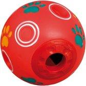 Flamingo speelgoed trainingsbal met kwaak - rood 15cm