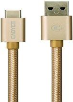 Cadyce USB-C naar USB 3.0 Kabel | 10GB/s gegevensoverdracht | Extra Stevig | Stijlvol en compact design | 1 m | Goud