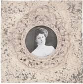 Clayre & Eef Kunststof Fotolijst 10 x 10 cm beige - 2183