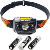 Hoofdlamp LED - 160 lumen - incl. batterijen - IPX6 - zwart - KMHL003
