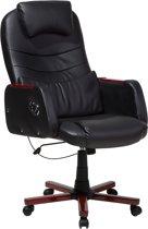 Beliani captain - Bureaustoel - Kunstleer - zwart - 53x65x114