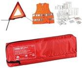 Auto Combi Set 3 in 1 - Veiligheid en EHBO Kit - Gevarendriehoek - Veiligheidsvest - Verbandtrommel