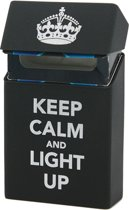Sigarettendoosje Keep Calm And Light Up (Zwart)