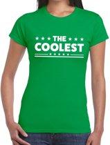 The Coolest tekst t-shirt groen dames - dames shirt  The Coolest XS
