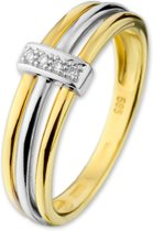 The Jewelry Collection Ring Diamant 0.02 Ct. - Bicolor Goud