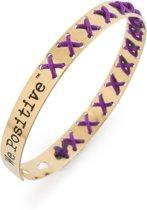 We Positive™ Cross Gold Purple FR006F