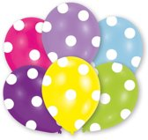 6 Latex Balloons All Round Printed Polka 27.5 cm/11