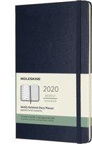 Moleskine 12 Maanden Agenda 2020 - Wekelijks - Large (13x21 cm) - Sapphire Blue - Harde Kaft
