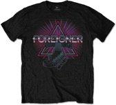 Foreigner - Neon Guitar heren unisex T-shirt zwart - XL