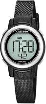 Calypso K5736/3 digitaal horloge 30 mm 100 meter zwart/ zilver
