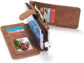 Samsung Galaxy S6 Leren portemonnee hoesje met uitneembare telefoon case