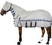 Imperial Riding Vliegen- UV deken met hals, masker en bu Silvergrey-Navy 215