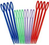 16 plastic naalden in 2 verschillende maten ca 9 CM en 7 CM - NBH®