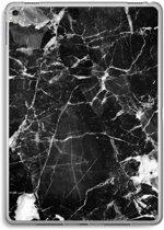 iPad Pro 9,7 inch Transparant Hoesje (Soft) - Zwart Marmer 2