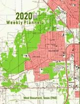 2020 Weekly Planner: West Beaumont, Texas (1960): Vintage Topo Map Cover