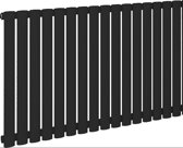 Eastbrook Tunstall horizontaal radiator mat zwart 600 x 589mm ( afgebeeld is de 600 x 1002mm)