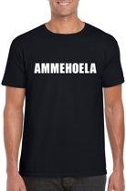 Ammehoela tekst t-shirt zwart heren 2XL