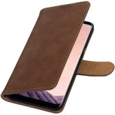Samsung Galaxy S8 Plus Bruin   Bark bookstyle / book case/ wallet case Hoesje    WN™