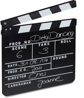 relaxdays Filmklap zwart - filmklapper - voor filmfans - movie clapper board - clapboard