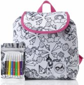 Babymel klein rugzakje Colour and Wash Unicorn Wit