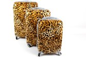 Zifel Kofferset 3 Delig Luipaard