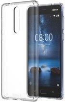 Nokia hybrid crystal back case - transparant - voor Nokia 8