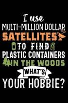 I Use Multi-Million Dollar Satellites to Find Plastic Containers in the Woods What's Your Hobbie?