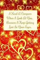 I Need a Compass When I Look at You. Because I Keep Getting Lost in Your Eyes.
