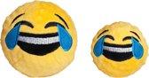 Fabdog Emoji Ball Crying/Laughing - Hond - Speelgoed - Small: 7,6 cm - Geel