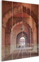 Architectuur India Hout 60x80 cm - Foto print op Hout (Wanddecoratie)