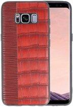 Croco Rood hard case hoesje voor Samsung Galaxy S8