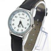 Horloge- Kinder- Tiener- Zwart- 29 mm- Gratis batterij