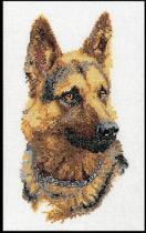 Thea Gouverneur Borduurpakket 934A Wolf Hond - Aida stof 100% katoen