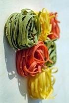 Multicolored Pasta in a Triangle Journal