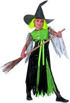 Carnavalskleding heks Witchcraft meisje Maat 140
