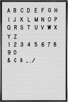 Letterbord - Inclusief 145 letters/cijfers - 28 x 35,5 cm - Wit