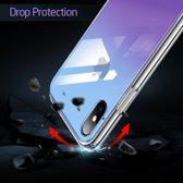 iPhone Xs Max - hoesje met Tempered Glass achterkant bescherming - ESR – Paars & blauw achterkant - Hues Mimic