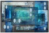 Schilderij - Abstract in lichte kleuren, 1 deel
