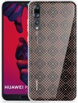 Huawei P20 Pro Hoesje Geometric Pink
