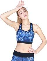Dames Top van Elle Sport - blauw