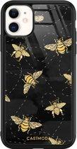 iPhone 11 glazen hardcase - Bee yourself