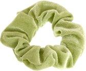 Lucardi Diversen  - Velvet scrunchie licht groen