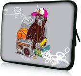 Sleevy 13,3 laptophoes aapje - laptop sleeve
