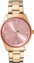 LOISIR dames horloge roségoud - roze wijzerplaat - 40 mm - RVS