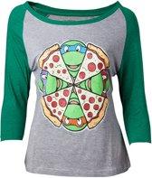 Ninja Turtles - Vrouwelijke Raglan T-Shirt - Maat S