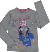 Losan Meisjes Shirt Grijs met opdruk - H19 - Maat 128